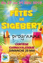 Programme des fêtes de Sigebert 2016